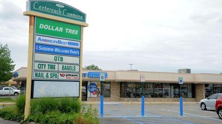 A shopping center in Centereach