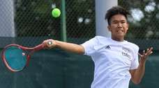Brian Gao of Syosset hits during the Long