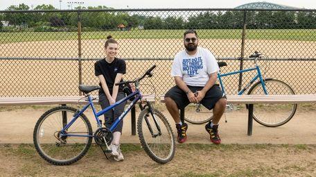 Bike buddies Sara Lapine, 27, of Levittown and