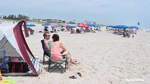 Lifeguards atRodgers Beach in Westhampton spoke Saturday about