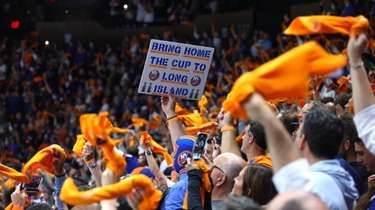 Islanders fans before Game 4 of the Stanley