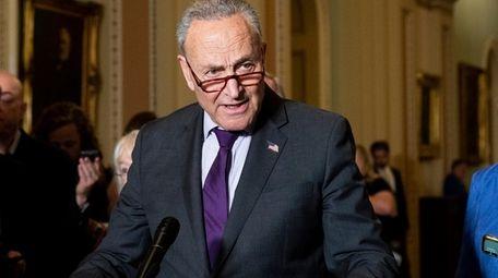 Senate Majority Leader Chuck Schumer (D-N.Y.) speaks at