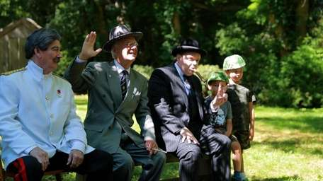 A World War II re-enactment on Sunday at