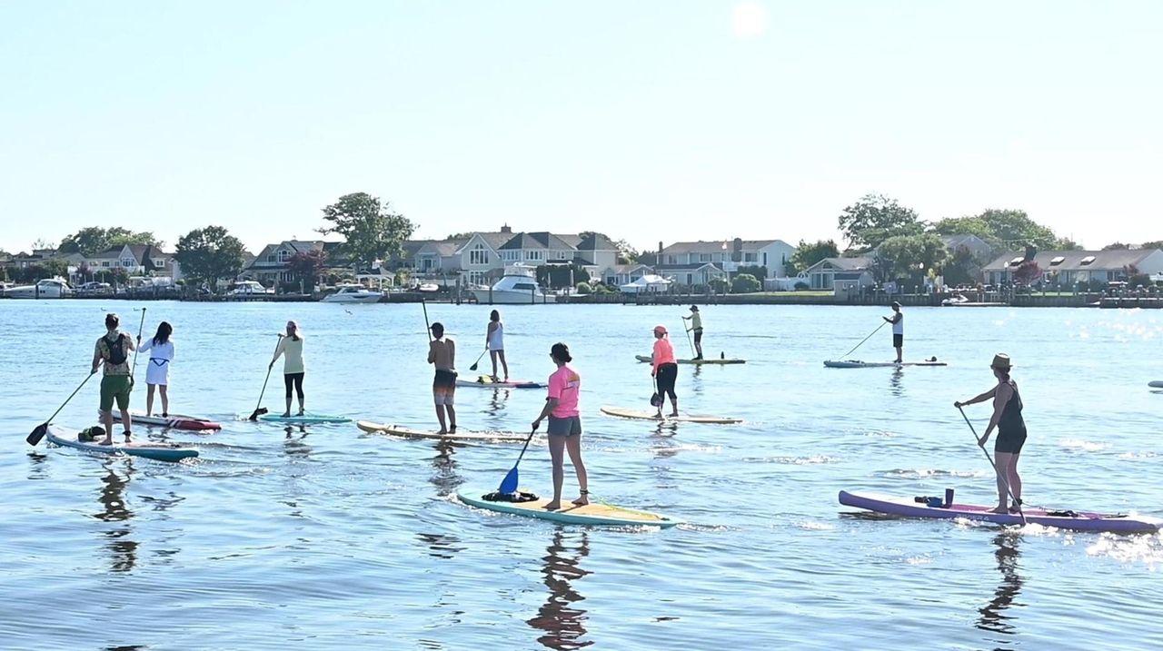 Karen Marvin, of South Shore Paddleboarding in Babylon,