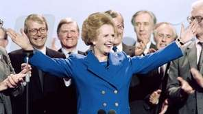 Margaret Thatcher at the Conservative Party conference in