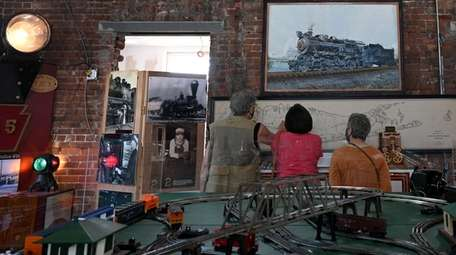 People check out the exhibits at The Oyster