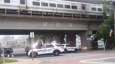Police on the scene at the Bellmore LIRR