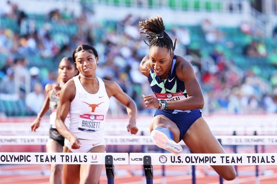 EUGENE, OREGON - JUNE 19: Brianna McNeal competes