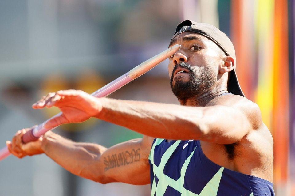 EUGENE, OREGON - JUNE 20: Solomon Simmons competes