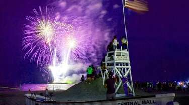The Fourth of July fireworks fill the sky