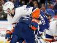 Semyon Varlamov of the Islanders makes the save