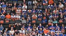 Islanders fans attended a watch party at Nassau