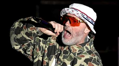 Limp Bizkit, featuring frontman Fred Durst, is performing