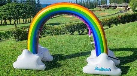 Rainbow backyard sprinkler; $50 at poolcandy.net.