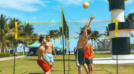 Crossnet four-section volleyball game; $149.99 at crossnetgame.com.