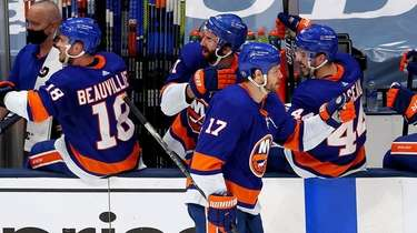 Matt Martin of the New York Islanders is