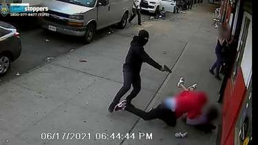 Image from surveillance video provided by the NYPD
