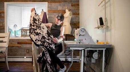 S. Ashton Rosato works on his prom dress