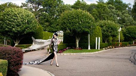 S. Ashton Rosato in the dress he designed