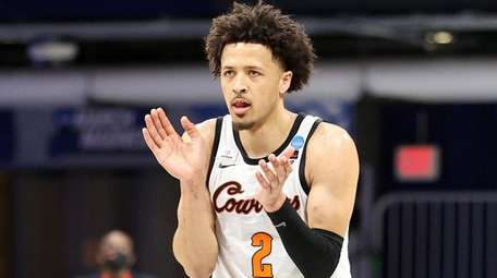 Oklahoma State's Cade Cunningham during an NCAA Tournament
