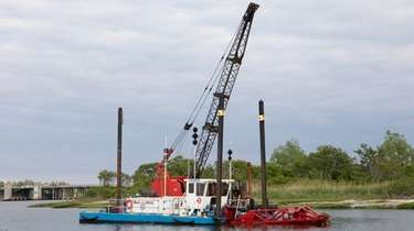 The dredging at Sea Dog Channel in Point