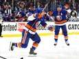 Anthony Beauvillier #18 of the Islanders celebrates after