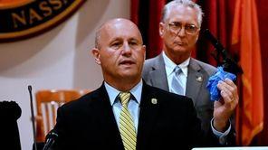 Nassau County police on Thursday announced the arrest