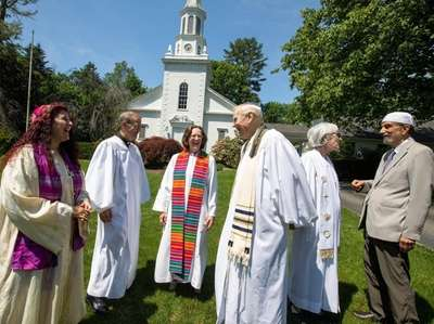 Religious leaders at Brookville Multifaith Campus in Glen