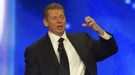 Vince McMahon at the WWE Hall of Fame