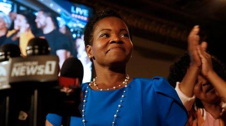 Democratic Buffalo mayoral primary candidate India Walton delivers