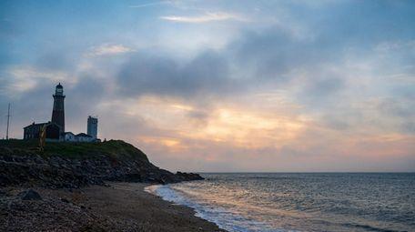 Sunrise at Montauk Point in Montauk on Monday,