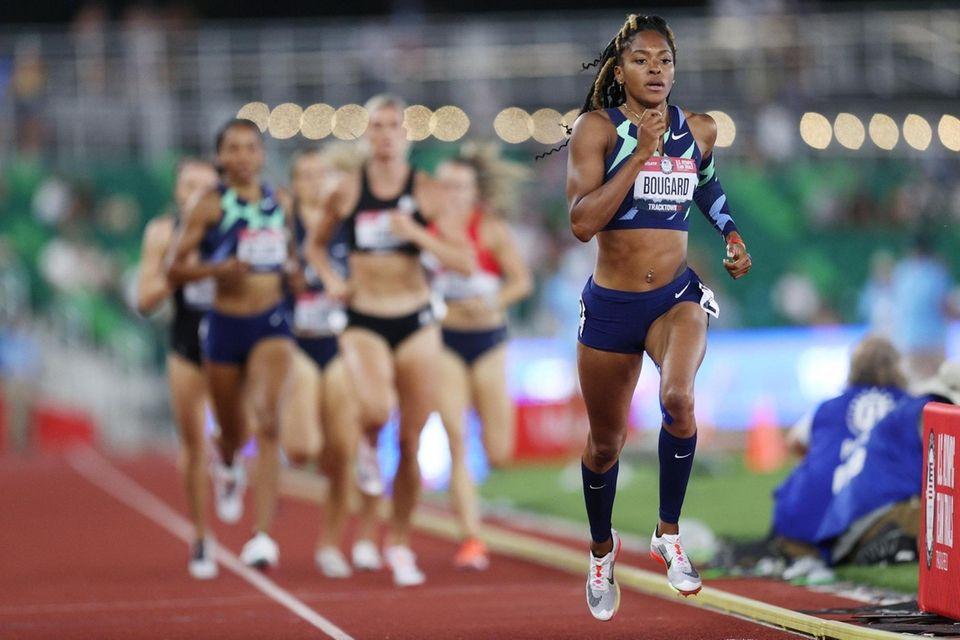 EUGENE, OREGON - JUNE 27: Erica Bougard competes