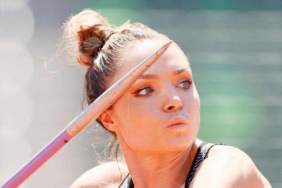 EUGENE, OREGON - JUNE 27: Chari Hawkins competes