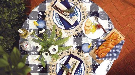 A table setting; Ballard Designs in Garden City