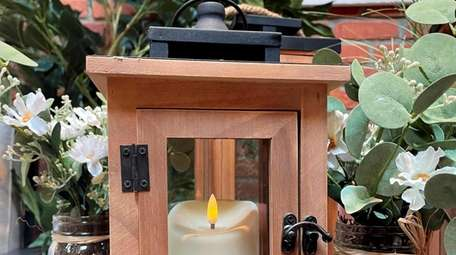 A battery operated candle lantern; $34.99 at Hick's