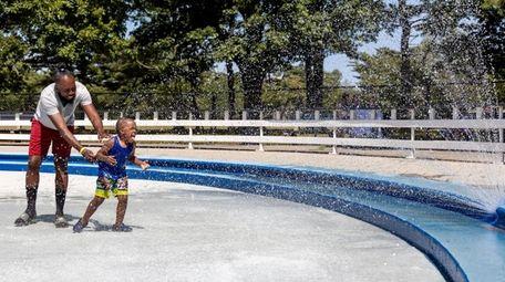 Amir Thomas of Westbury tries to keep cool