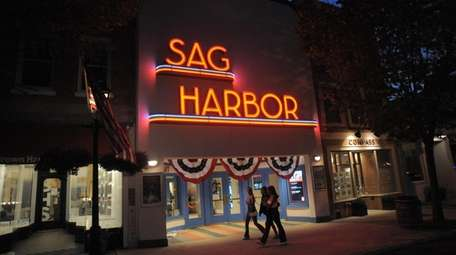 Early evening scenes in Sag Harbor on Monday.
