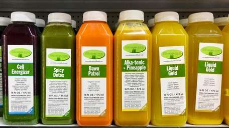 Cold-pressed juices are a big draw at Bob's