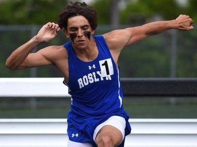 Elijah Yeroushalmi of Roslyn competes in the boys'