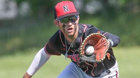 Newfield's Dylan Johnson against Hauppauge on June 9,