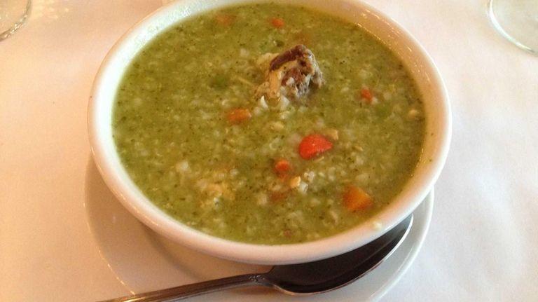 The aguadito -- chicken cilantro soup -- at