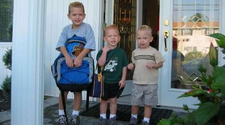 The Capobianco brothers, from left, Christian, Andrew and