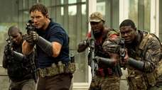 Chris Pratt, Edwin Hodge and Sam Richardson star