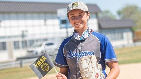 Centereach softball player Gianna Oliveri, an enlistee in