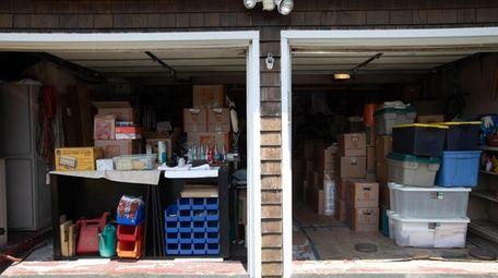Dan and Paula Badalament's garage at their home