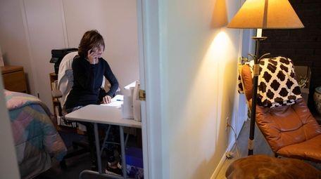 Paula Badalament in her home office in Glen