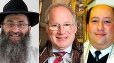 From left, Rabbi Anchelle Perl of Chabad of