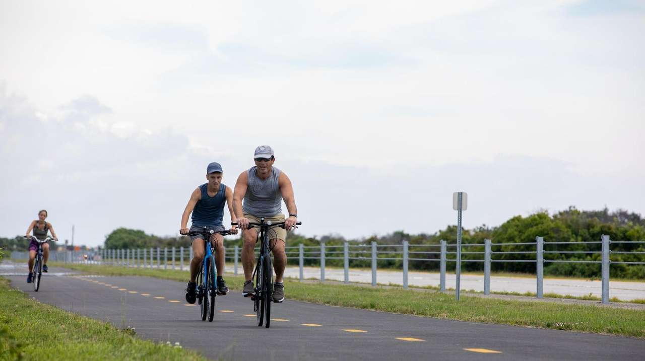 Explore the new bike path along Ocean Parkway