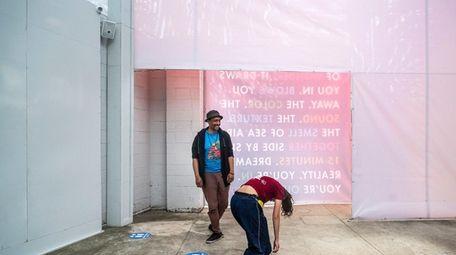 Video artist-director Rasean Davonte Johnson works with Jade
