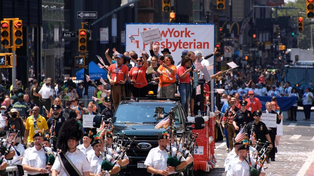 A ticker-tape parade through the Canyon of Heroes